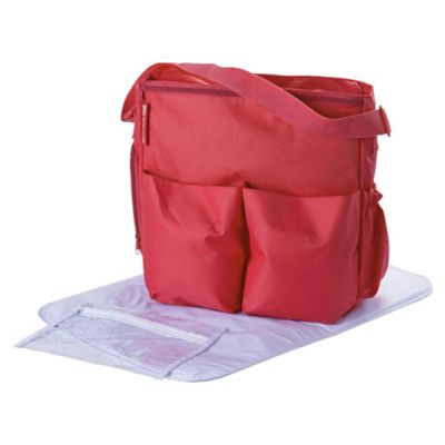Claire de Lune Showersnugg Changing Bag Red