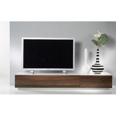 Tvilum Monaco Combination 44 Wooden TV Stand - White / Dark Walnut