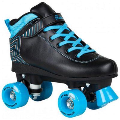 Rookie Starlight Kids Quad Roller Skates - Black/Blue JNR 12