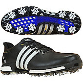 adidas Mens Tour360 Boost Special Edition Cleated Golf Shoes With Bag - Black