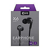 Core X6 In-Ear Earphones - Black
