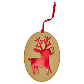 Luxury Kraft Reindeer Christmas Gift Tags, 3 pack