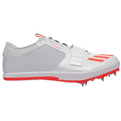 adidas Jumpstar Long Jump Triple Jump Spike Shoe White / Red - UK 10
