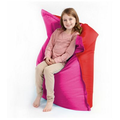 Loft 25 Small Water Resistant 2 Tone Bean Bag Slab - Red / Pink