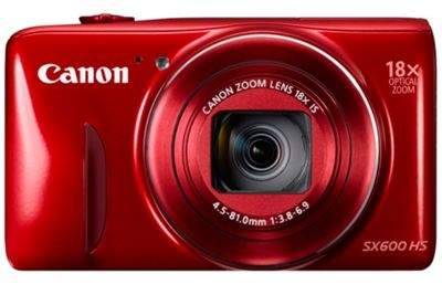 Canon Powershot SX600 Digital Camera, Red, 16MP, 18x Optical Zoom, 3