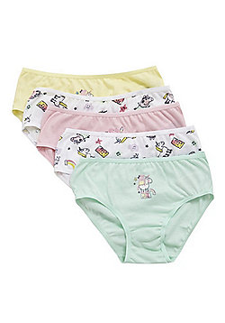 Peppa Pig 5 Pack of Unicorn Briefs - Multi