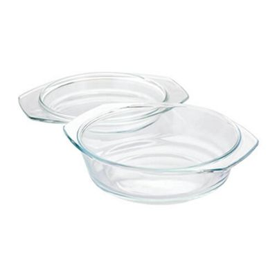 Judge Borosilicate 1 Litre Glass 2 in 1 Casserole Dish with Lid