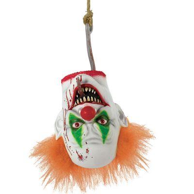 Evil Clown Hanging Head Halloween Party Prop - 40cm