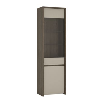 Aspen 2 Door Tall Glazed Display Cabinet (Inc LED lighting)