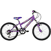 "Freespirit Summer 20"" Wheel Junior Step Through Mountain Bike Violet"