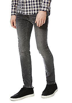 F&F Washed Stretch Skinny Jeans - Grey