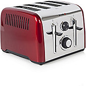 Breville VTT724 Aurora 4 Slice Stainless Steel Toaster - Red