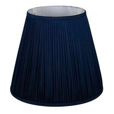 35cm Faux Silk Dark Blue Mushroom Pleat Shade