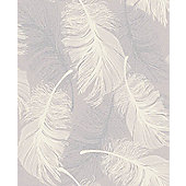 Coloroll Feather Lilac Wallpaper