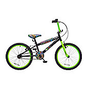 "Concept Graffiti 20"" Wheel Kids BMX Bike Single Speed Black"