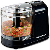 Andrew James Electric Mini Chopper with Removable Bowl & Stainless Steel Blades - Black