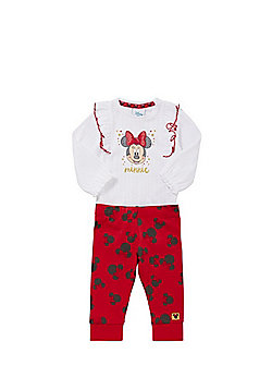 Disney Minnie Mouse Bodysuit and Leggings Set - Red & White