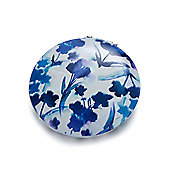 Blue Flower and Bird Compact Mirror