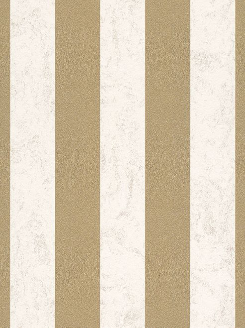 Carat Glitter Stripe Wallpaper - Cream and Gold - 13346-70