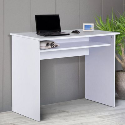 Homcom Writing Desk Laptop Table Home Office Workstation Drawer 50L x 90W(cm) - White