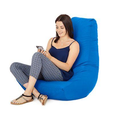 Blue Water Resistant Bean Bag Gaming Chair