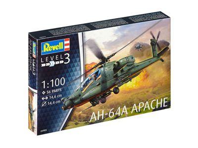 Revell GmbH AH-64A Apache Plastic Model Kit 1:100 Scale