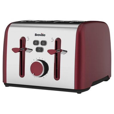 Breville Colour Notes VTT628 4 Slice Toaster - Red