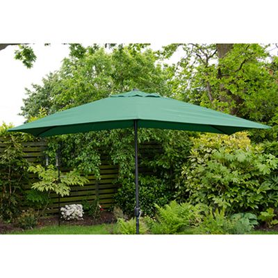 buy oxford 3m x2m rectangle garden parasol green from our. Black Bedroom Furniture Sets. Home Design Ideas