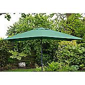Oxford 3m x2m Rectangle Garden Parasol Green