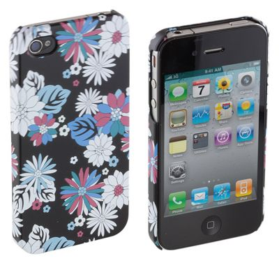 Trendz Hard Clip-On Case for iPhone 4/4S - Floral