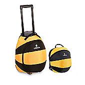LittleLife Wheelie Duffle Bag and Animal Kids Daysack Bee