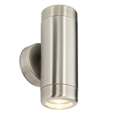 Atlantis 2 Light 35W Wall Light Marine Grade Brushed Stainless Steel