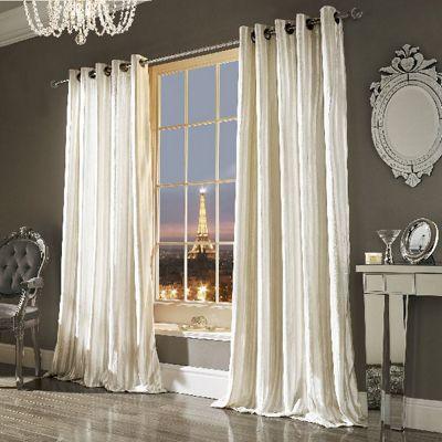 Iliana Eyelet Curtains, Oyster 168x183cm
