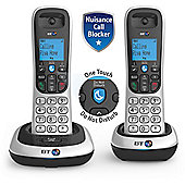 BT 2200 Twin Cordless Landline Home Phone Pack - Silver