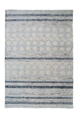 Large Natural Woollen Bohemian Rug (140x200)