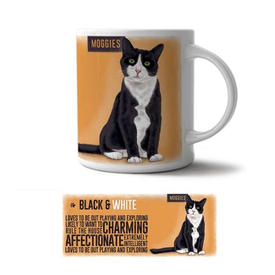 Original Metal Sign Co Mug, Black and White Moggie