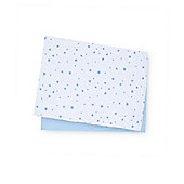 B Baby Bedding Blue Jersey Cotton Moses Basket Sheets - 2 Pack
