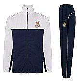 Real Madrid Boys Tracksuit - Navy