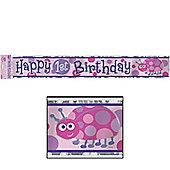 Ladybug 1st Birthday Foil Banner - 12ft