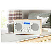Tesco Wooden Stereo DAB/FM Radio - Wood/White