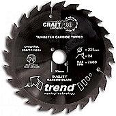 TREND CSB/TC16024 CRAFT SAW BLADE NS 160MMX24TX20MM