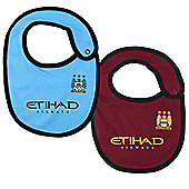 Manchester City FC 2 Pack Baby Bibs Home Away