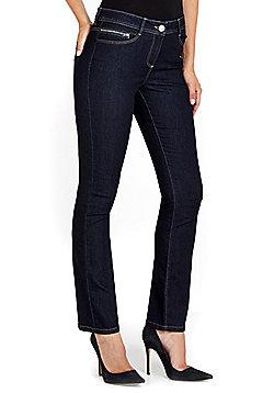 Wallis Harper Zip Pocket Straight Leg Jeans - Indigo