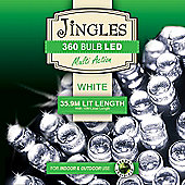 Jingles 360 Bulb White Led Lights-7ft Tree
