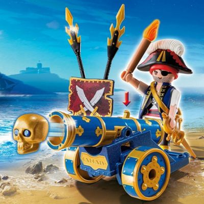 Playmobil Pirates Interactive Cannon with Pirate Captain Blue