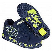 Heelys Propel 2.0 Navy/Lime/Confetti Kids Heely Shoe - Blue