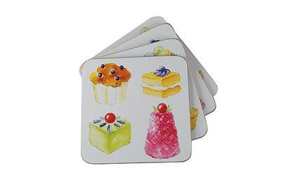 Apollo Coasters Cupcakes Print, Set of 4