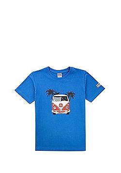 Dudeskin Camper Van Print T-Shirt - Blue