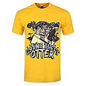 Grand Theft Otter Yellow Men's T-shirt - Gold