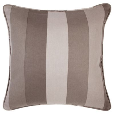 Tesco Cushions Hampton Stripe Cushion, Chocolate